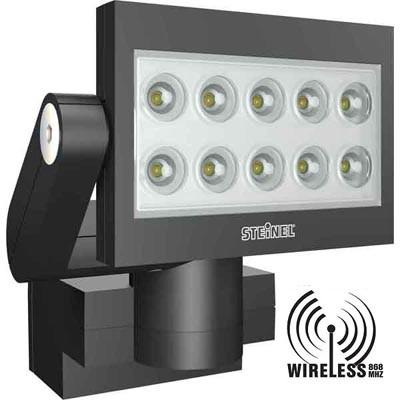 xled fe 10 projecteur led r cepteur sans fil 868mhz noir. Black Bedroom Furniture Sets. Home Design Ideas