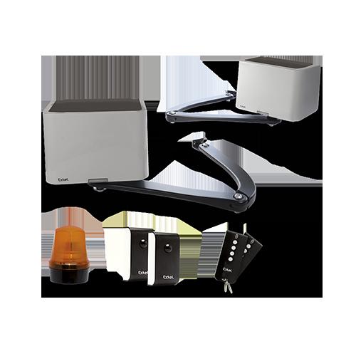 motorisation portail battant extel hello b. Black Bedroom Furniture Sets. Home Design Ideas