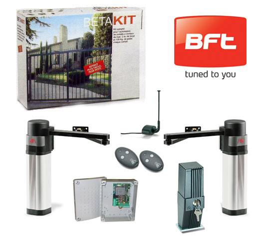 motorisation portail battant kit bft beta. Black Bedroom Furniture Sets. Home Design Ideas