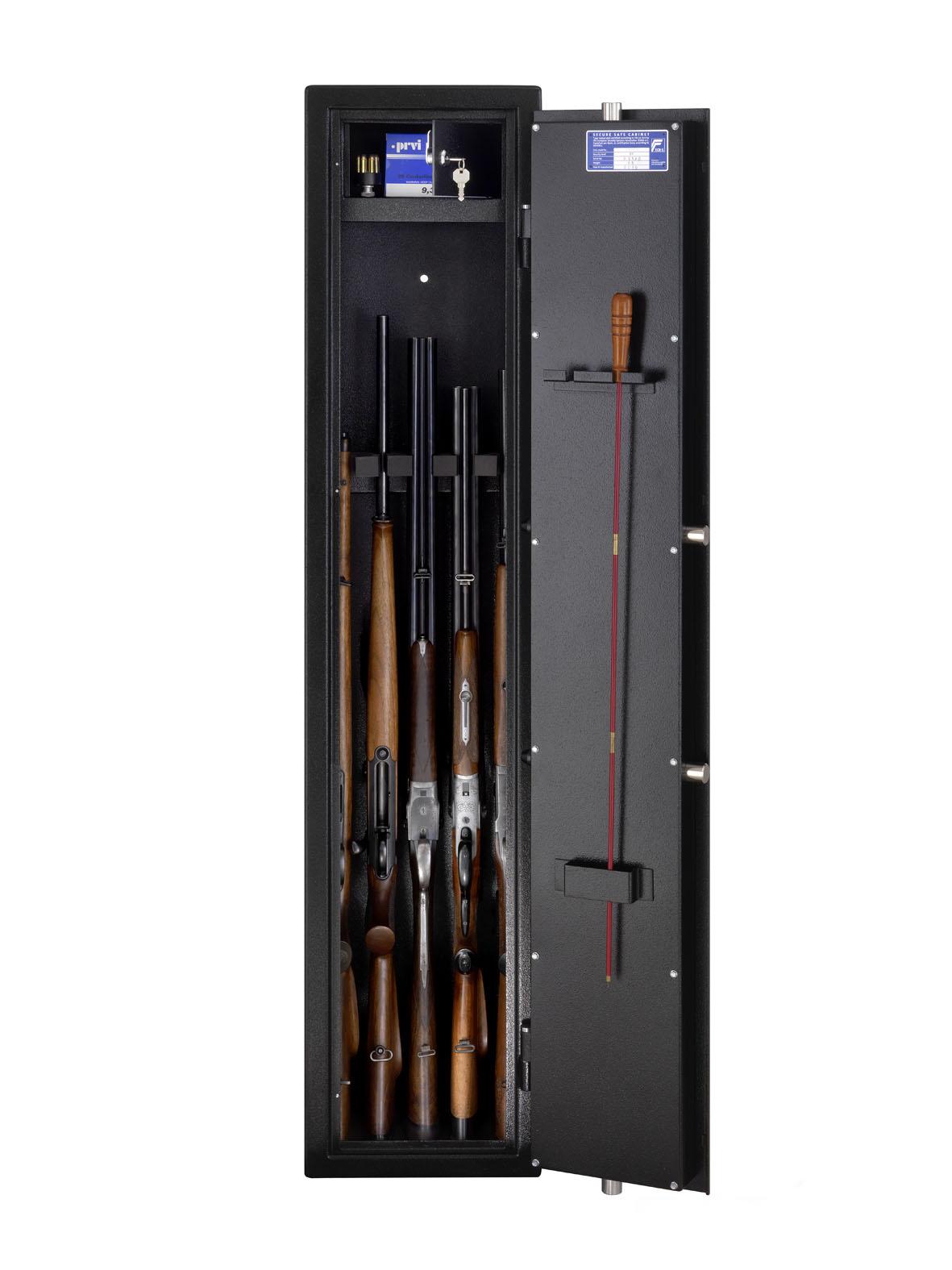 armoire fusils burg w chter ranger r s1 5 e serrure lectronique module biom trique. Black Bedroom Furniture Sets. Home Design Ideas