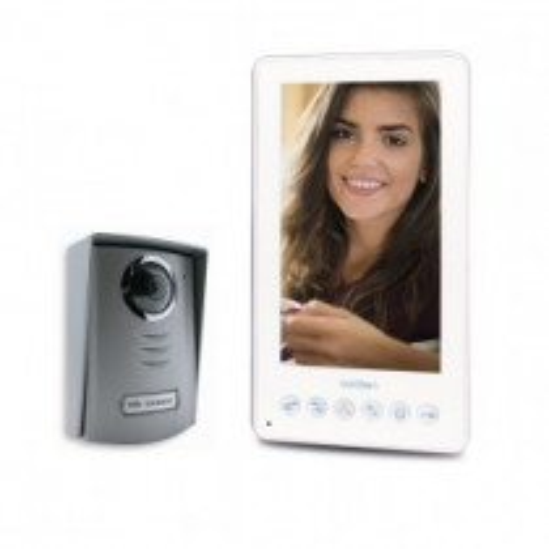 Visiophone AVIDSEN 2 Fils couleur - Vertical - mémoire visiteurs -écran 7''- MEYA