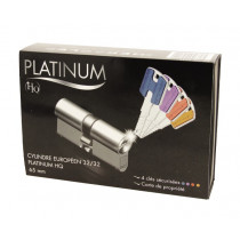 Cylindre européen PLATINIUM HQ 32,5x32,5