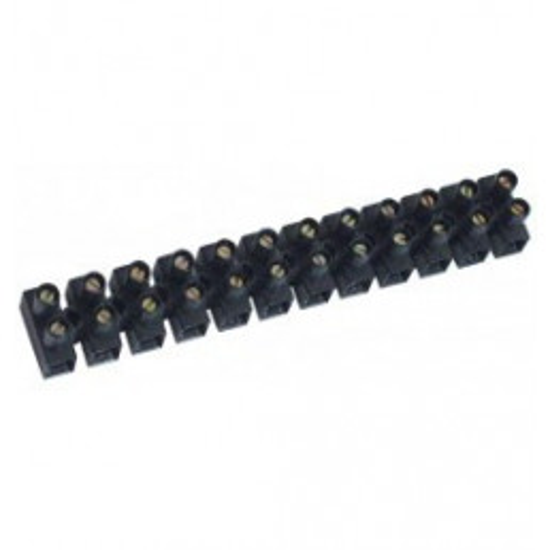 Barrette de connexion noire 16m/m2 - 12 bornes