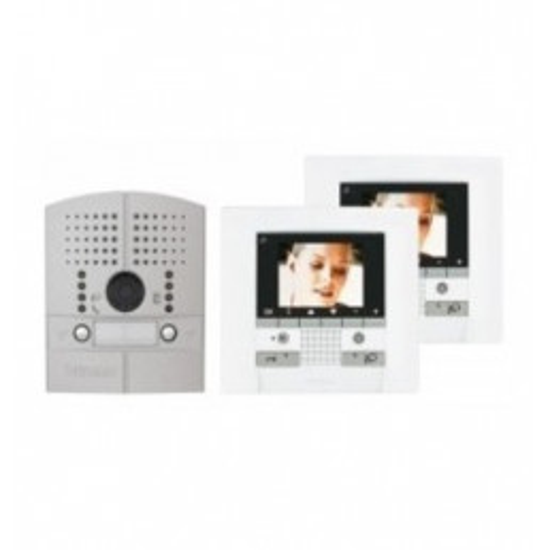 Kit vidéo couleur - Polyx Memory Display - platine à encaster - 2 appels