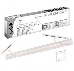 Kit Motorisation volets battants FAAC Night One Day Basic Blanc (filaire)