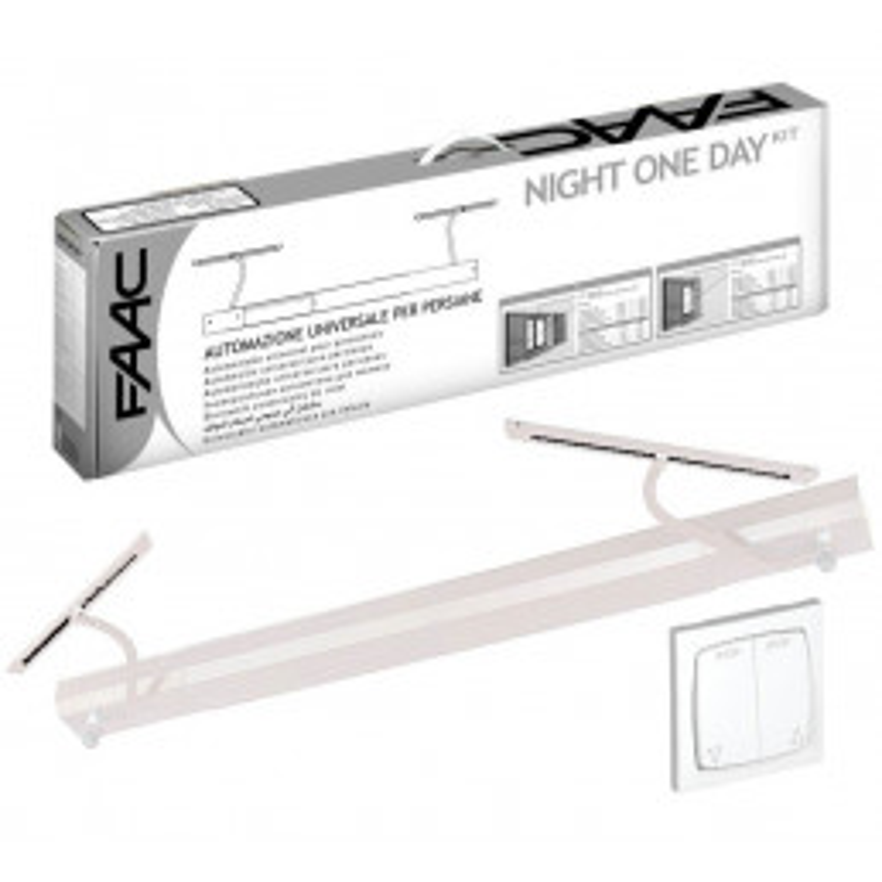 Kit Motorisation volets battants FAAC Night One Day AUTO Blanc (filaire)