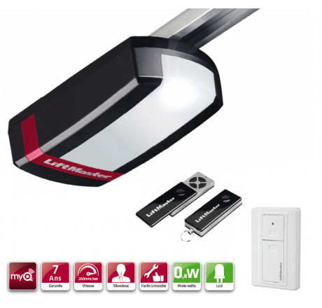 Liftmaster LM100EVS 1000N Motorisation porte de garage + Rail
