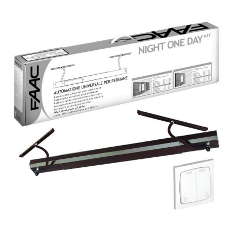 kit motorisation volets battants faac night one day auto marron filaire. Black Bedroom Furniture Sets. Home Design Ideas