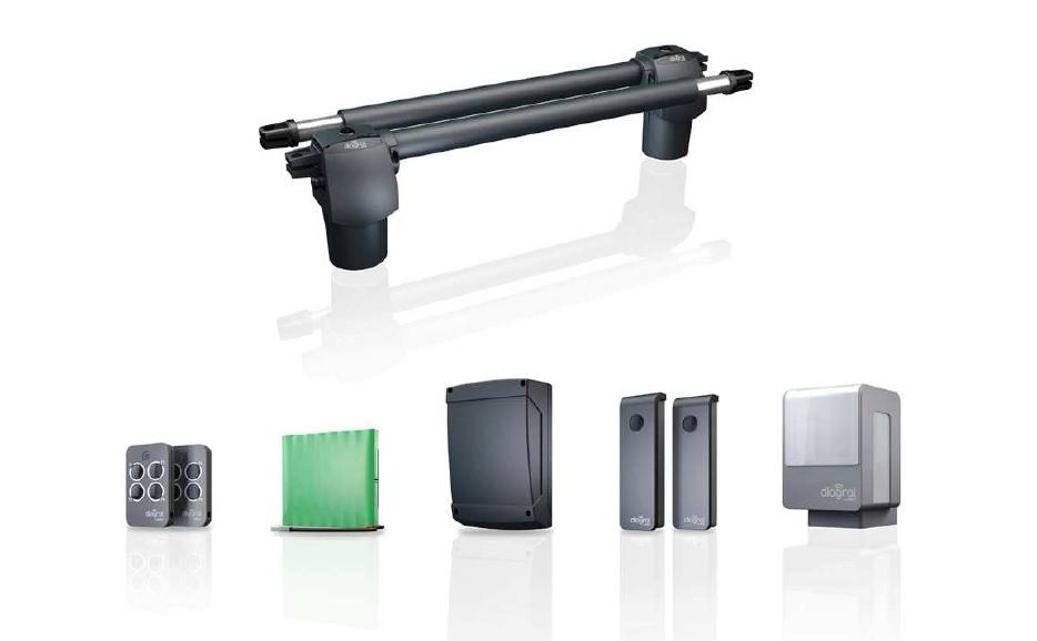 motorisation v rins portails battants kit diagral diag10mpf. Black Bedroom Furniture Sets. Home Design Ideas
