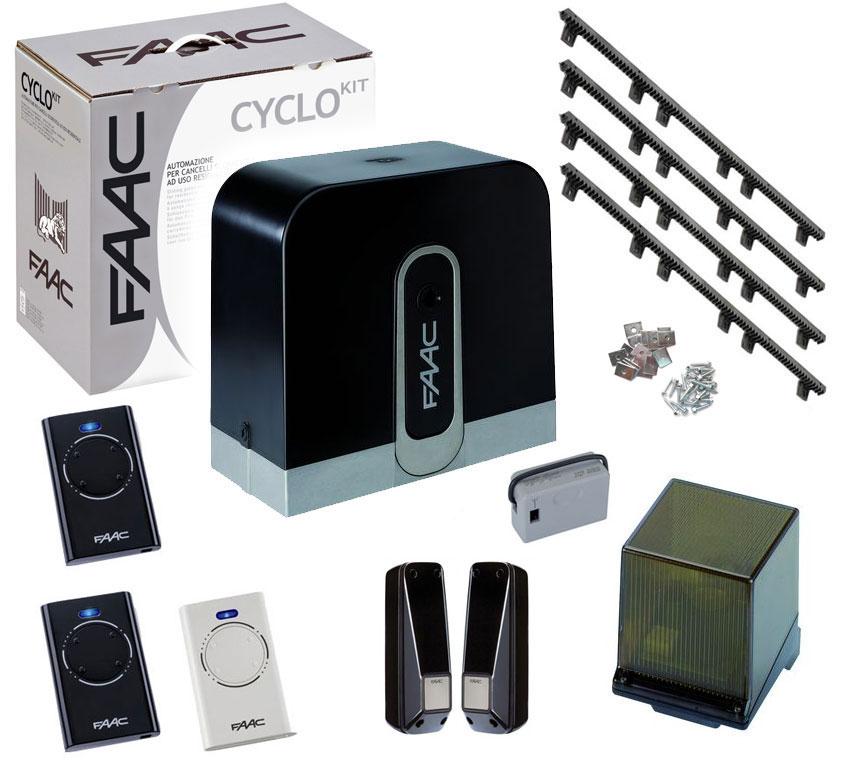motorisation portail coulissant faac cyclo kit 24v. Black Bedroom Furniture Sets. Home Design Ideas