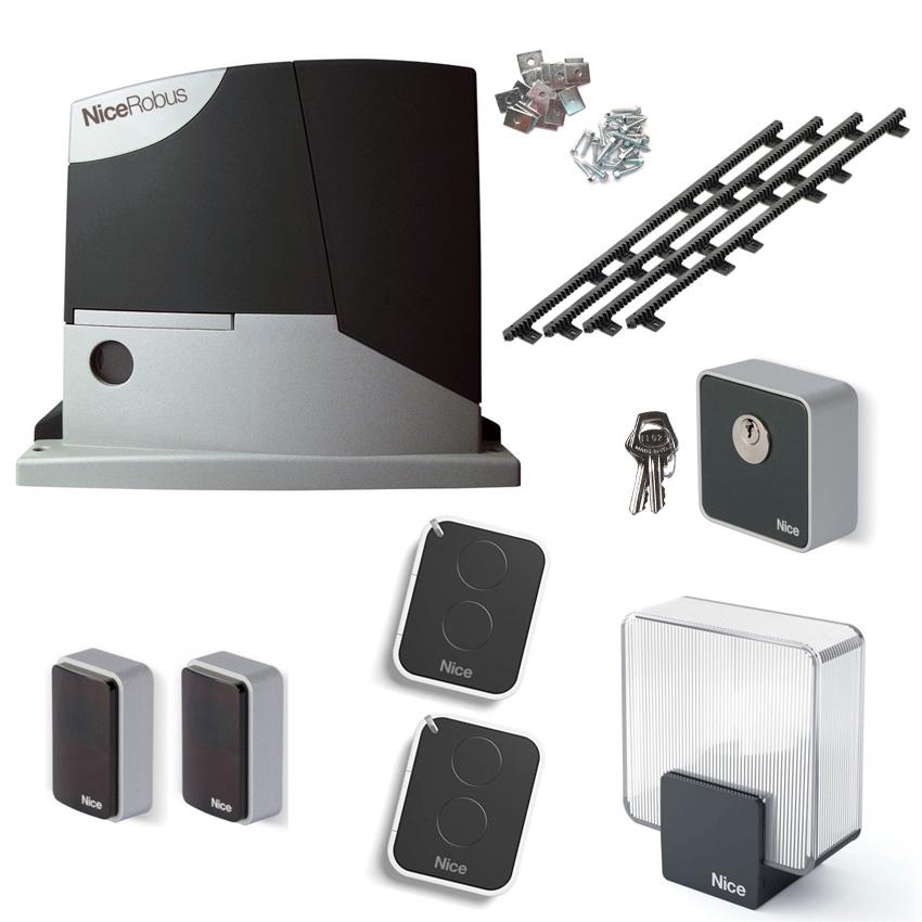 motorisation portail coulissant robus 600 kg kit nice rb600kce. Black Bedroom Furniture Sets. Home Design Ideas