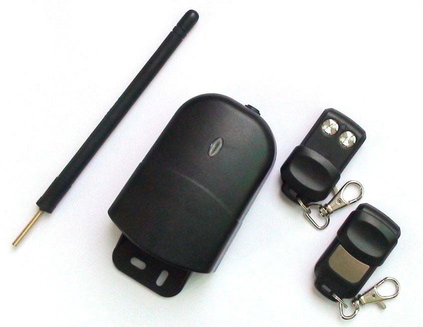 kit récepteur radio bicanal 433mhz longue portée + 2 télécommandes
