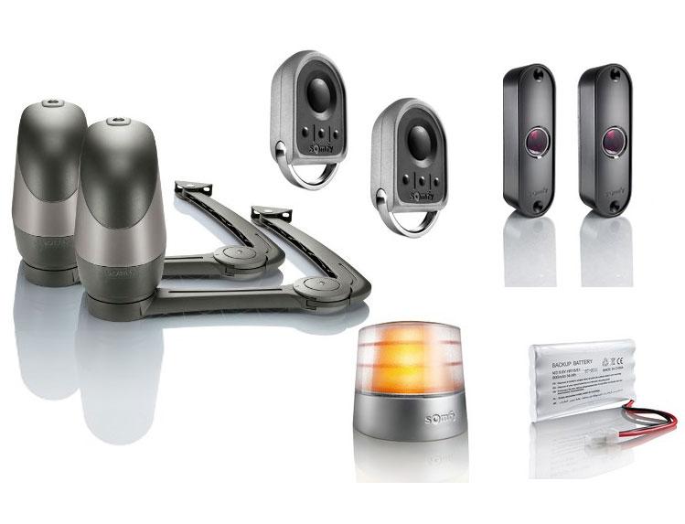 motorisation portail battant somfy axovia 220b rts pack confort. Black Bedroom Furniture Sets. Home Design Ideas