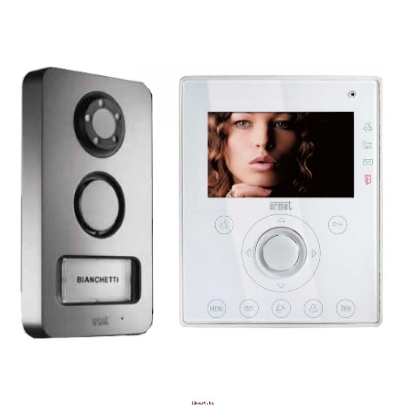 interphone video urmet mini note kit 2 fils. Black Bedroom Furniture Sets. Home Design Ideas