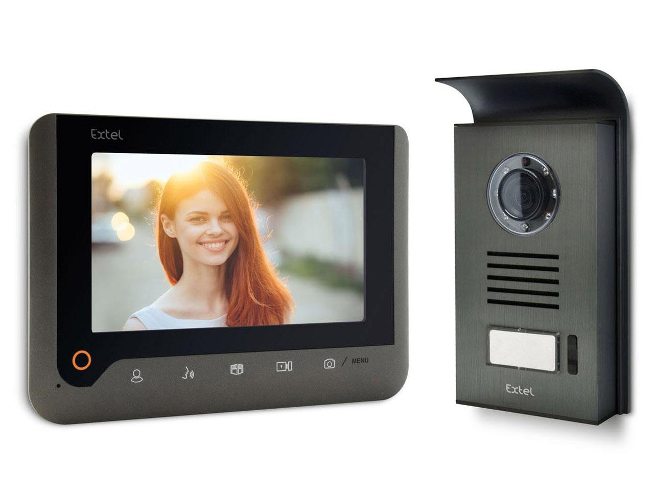 Visiophone, interphone Extel NOVA 7\' couleur mémoire de passage GRIS