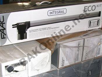 Motorisation pour portail battant ecokit 412 integral safe for Faac eco kit